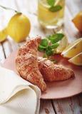 Croissant fresco para o café da manhã Fotografia de Stock