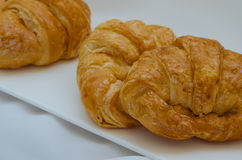 Croissant Fresh Baking for Breakfast. Fresh butter croissant for coffee break on breakfast Stock Photos