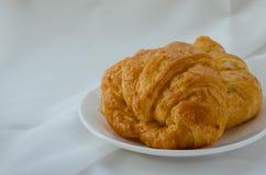 Croissant Fresh Baking for Breakfast. Fresh butter croissant for coffee break on breakfast Royalty Free Stock Image