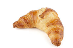 Croissant. A fresh crossaint on white background Stock Images