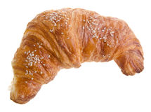 Croissant. Fresh and tasty croissant over white background. Stock Images