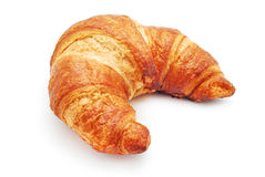 Croissant. Fresh croissant on white background Stock Images