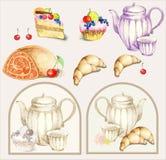 croissant fruitcake ilustraci kulebiak Zdjęcie Stock