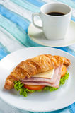 Croissant ham cheese Royalty Free Stock Images
