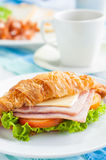 Croissant ham cheese Stock Photos