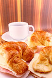 Croissant with ham and cheese Royalty Free Stock Photo