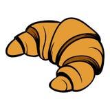 Croissant icon cartoon. Croissant icon in cartoon style isolated illustration stock illustration