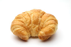Croissant. An isolated croissant on white background Royalty Free Stock Image