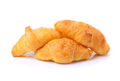 Croissant isolated on white background Stock Images