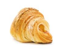 Croissant isolato su bianco Fotografie Stock