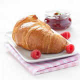 Croissant and jam Stock Photography