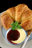 Croissant With Jam 2 Royalty Free Stock Photo