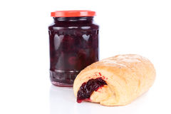 Croissant jam Royalty Free Stock Image