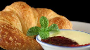 Croissant With Jam 4 Royalty Free Stock Photography