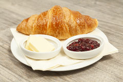 Croissant with Royalty Free Stock Photo