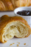 Croissant and jam Royalty Free Stock Photos