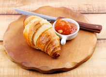 Croissant and Jam Stock Image