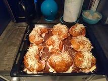 Croissant jambon fromage. Croissance jambon fromage fait maison stock images
