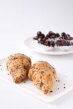 Croissant in keuken Royalty-vrije Stock Afbeeldingen