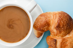 Croissant and latte Royalty Free Stock Photos