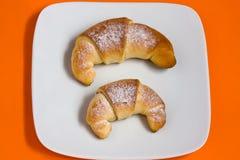 Croissant met jam Stock Afbeelding