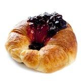 Croissant met Jam Stock Fotografie