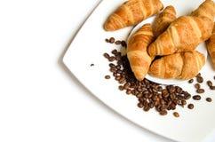 Croissant met koffie Stock Foto