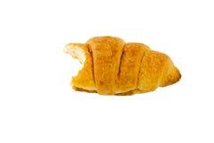 Croissant mordido Fotografía de archivo libre de regalías