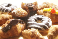 Croissant, muffins and donuts Stock Photo