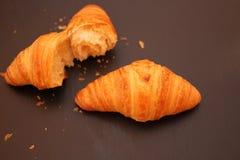 Croissant na czarnym tle Zdjęcia Stock