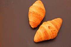 Croissant na czarnym tle Zdjęcie Royalty Free