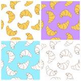 Croissant naadloze textuur Royalty-vrije Stock Afbeeldingen
