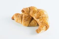 Croissant no fundo branco Imagem de Stock Royalty Free