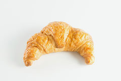 Croissant no fundo branco Fotografia de Stock Royalty Free