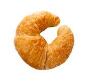 Croissant odizolowywający Fotografia Royalty Free
