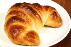 Croissant On Plate Stock Images
