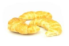 Croissant op witte achtergrond Royalty-vrije Stock Afbeeldingen