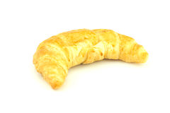 Croissant op witte achtergrond Stock Foto