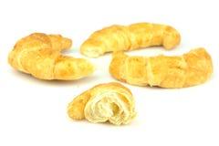 Croissant op witte achtergrond Royalty-vrije Stock Fotografie
