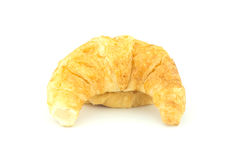 Croissant op witte achtergrond Stock Foto's