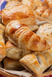 Croissant and other puff pastry Stock Image
