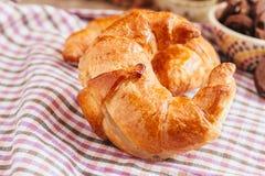 Croissant over de doek Royalty-vrije Stock Afbeelding