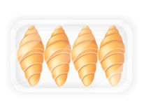 Croissant in packaging vector illustration Stock Image
