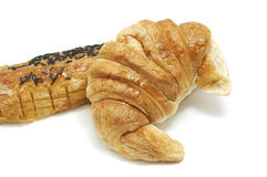 Croissant and pain au chocolat Stock Image