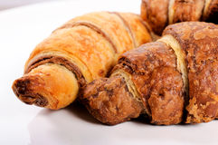 Croissant pair Royalty Free Stock Images