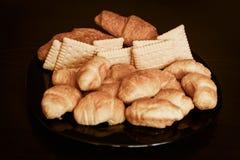 Croissant, panino, panini, fotografia stock libera da diritti