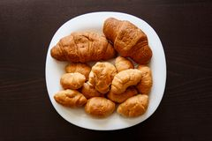 Croissant, panino, panini, immagine stock libera da diritti