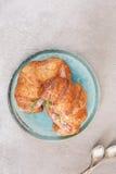 Croissant para el desayuno fotos de archivo libres de regalías