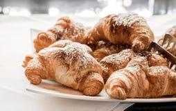 Croissant piekarni świeży ciasto Zdjęcia Royalty Free