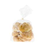 Croissant in a plastic bag Royalty Free Stock Photos